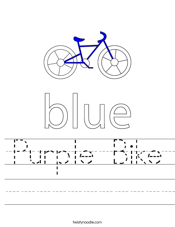 Purple Bike Worksheet