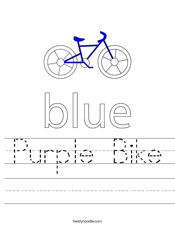 Purple Bike Worksheet
