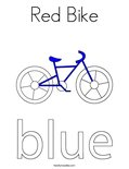 Red Bike Coloring Page