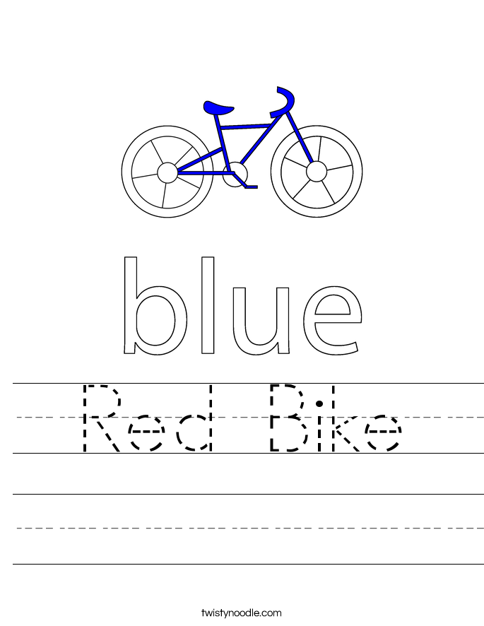 Red Bike Worksheet