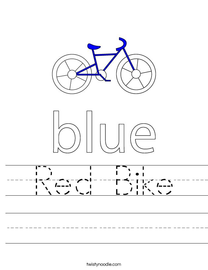 Red Bike Worksheet