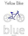 Yellow Bike Coloring Page