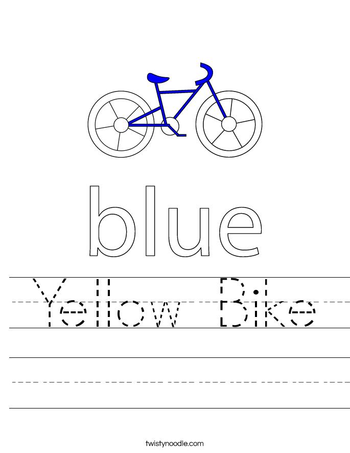 Yellow Bike Worksheet