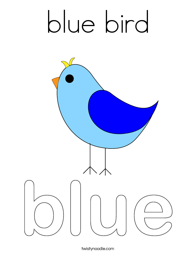 Bluebird coloring page coloring pages for Eastern bluebird coloring page