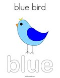 blue birdColoring Page