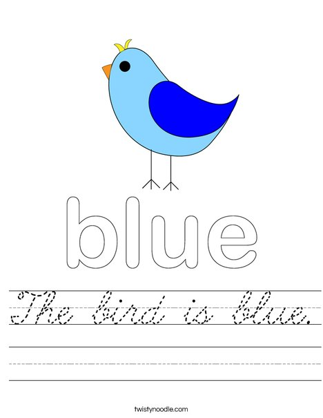Blue Bird Worksheet