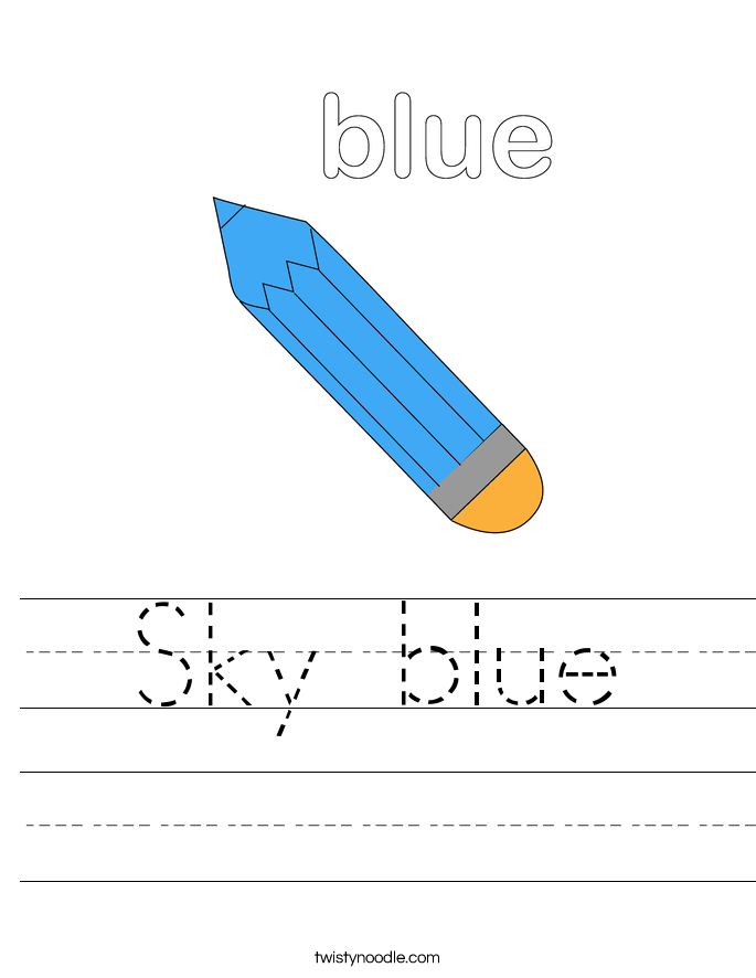 Sky blue Worksheet