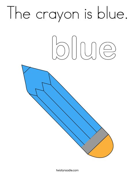 Lovely Blue Pencil Coloring Page
