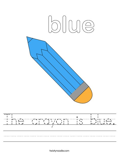 Blue Pencil Worksheet