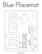 Blue Placemat Coloring Page