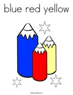 blue red yellow Coloring Page