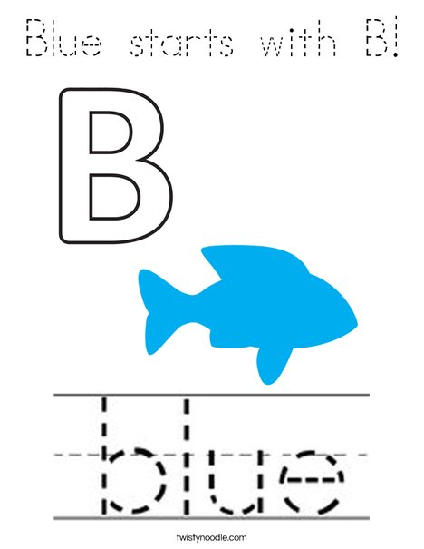 Blue starts with B! Coloring Page