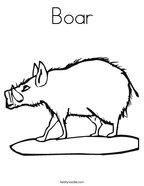 Boar Coloring Page
