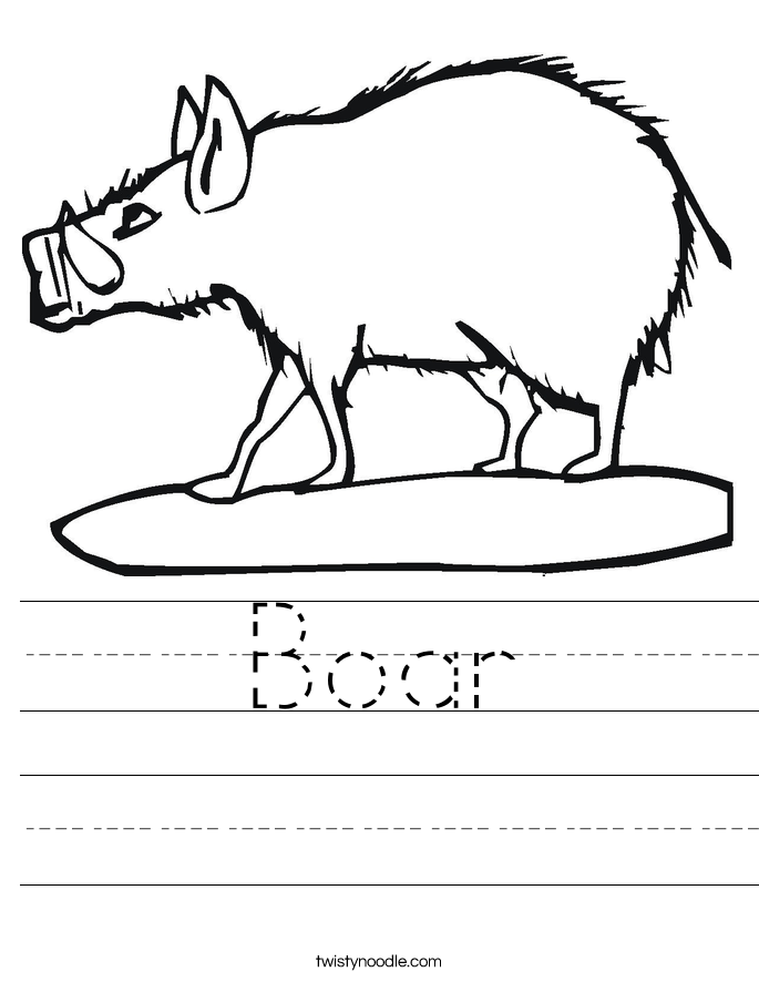 Boar Worksheet
