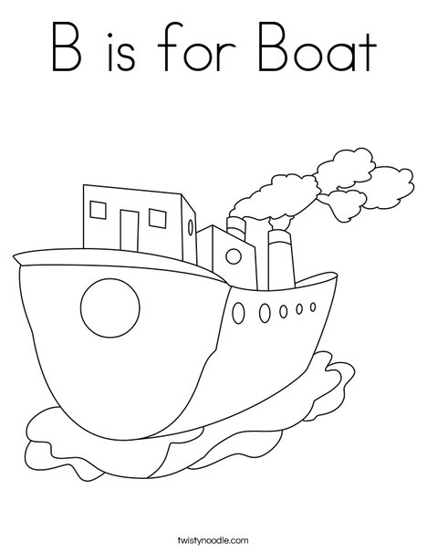 Tug Boat Coloring Page