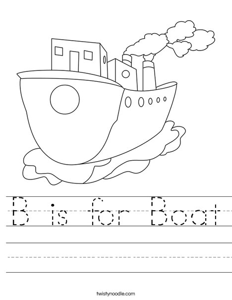 Tug Boat Worksheet