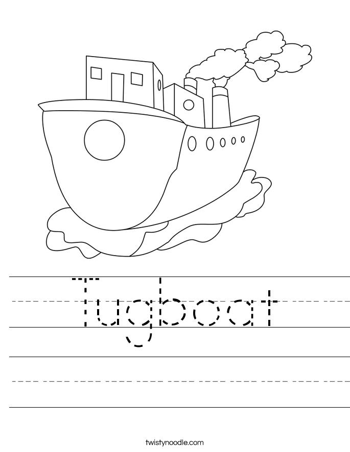 Tugboat Worksheet