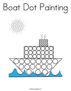 Boat Dot Painting Coloring Page