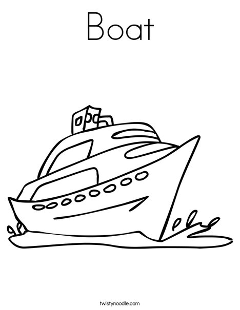 Boat Coloring Page Twisty Noodle