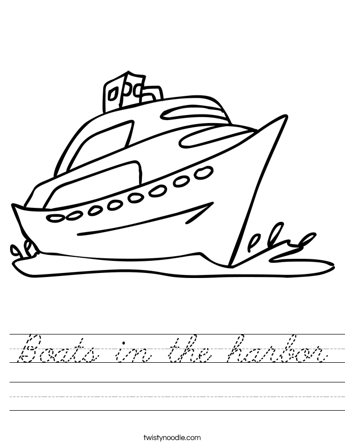 Boats in the harbor Worksheet