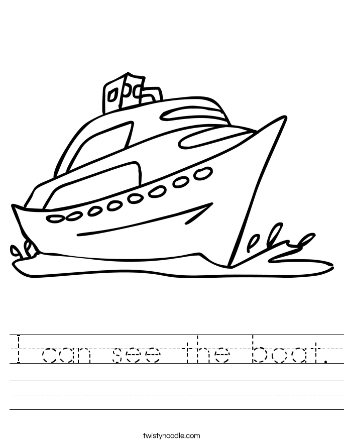 I can see the boat. Worksheet