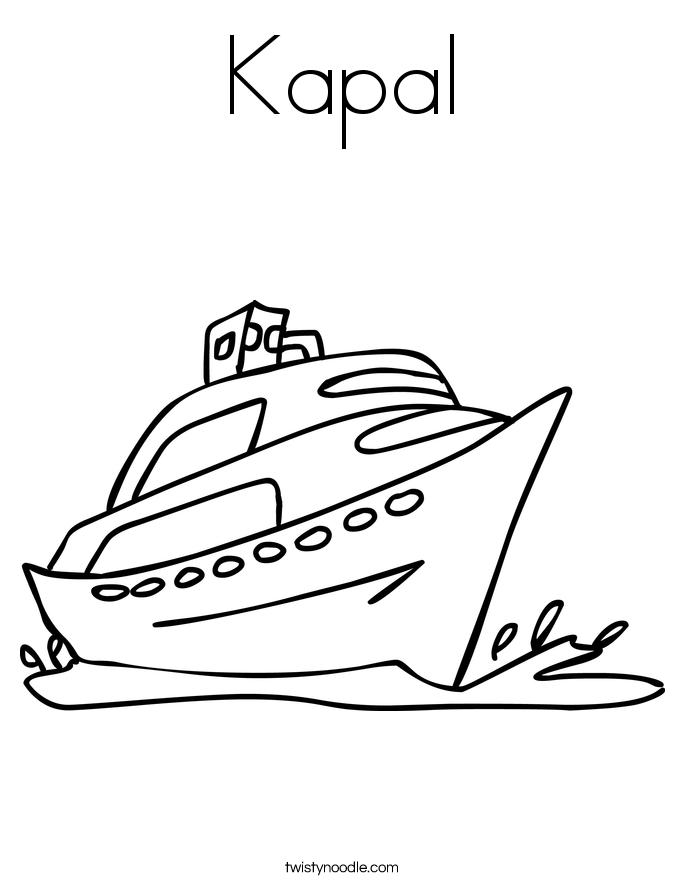 Kapal Coloring Page