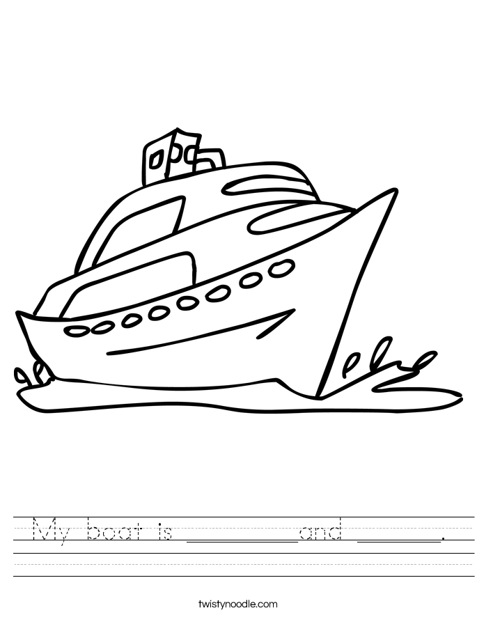 My boat is ________and ______. Worksheet
