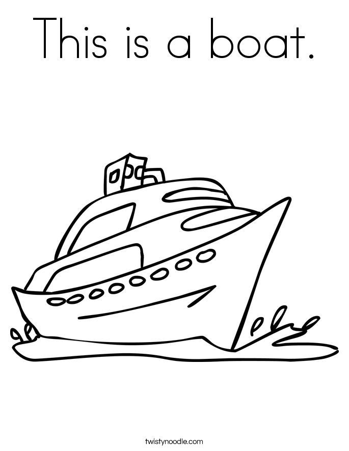 This is a boat. Coloring Page