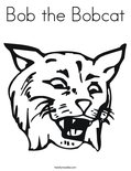 Bob the Bobcat Coloring Page