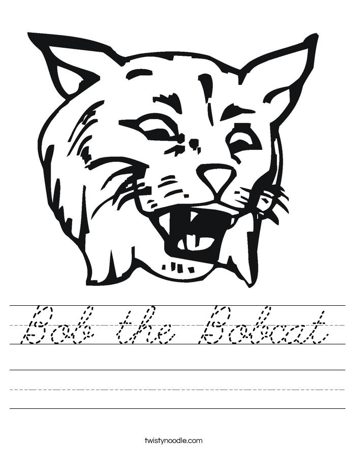 Bob the Bobcat Worksheet