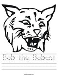 Bob the Bobcat Worksheet