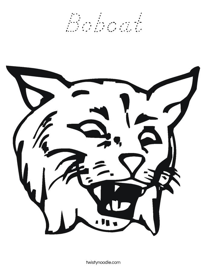 Bobcat Coloring Page
