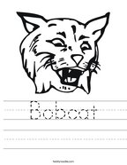 Bobcat Handwriting Sheet