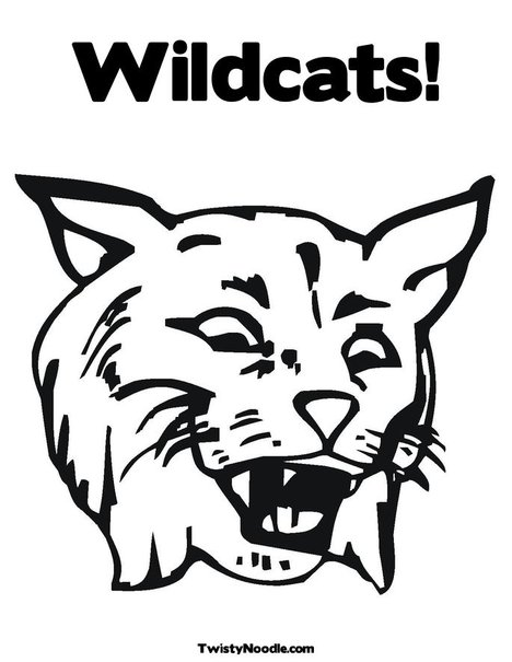 kentucky wildcat logo coloring pages - photo#6