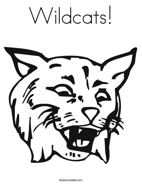 Wildcats Coloring Page
