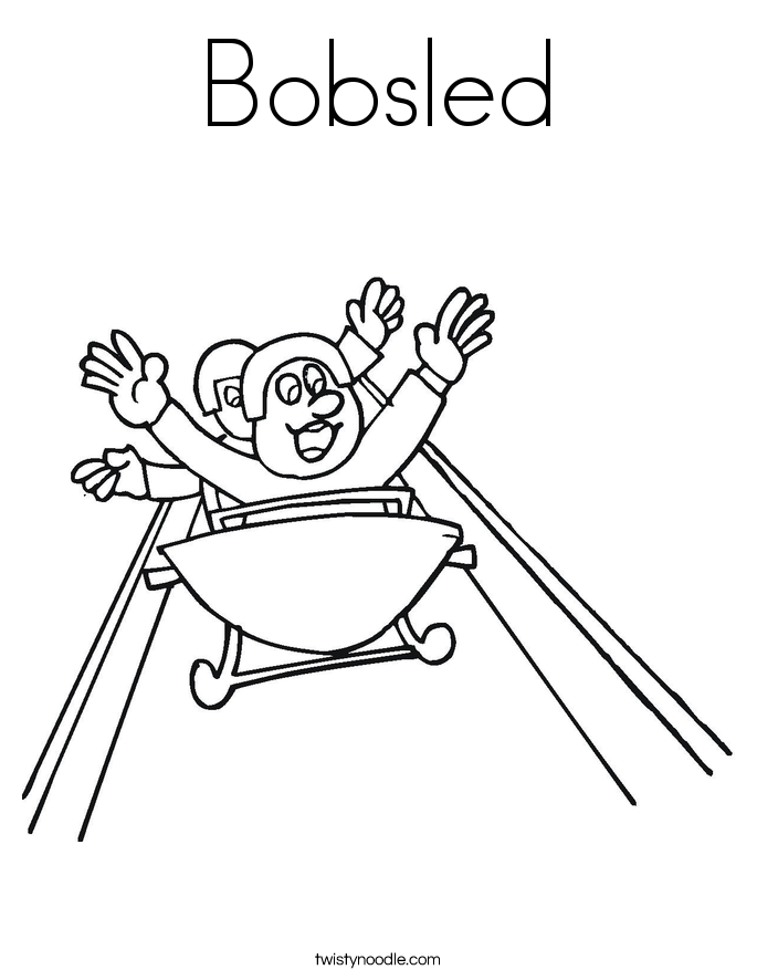 Bobsled Coloring Page