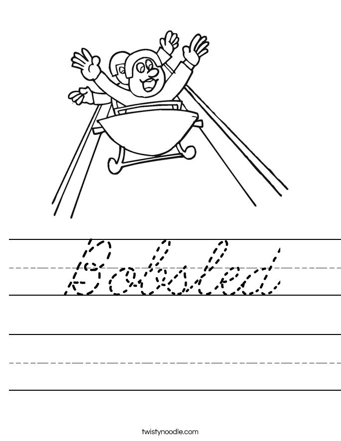 Bobsled Worksheet
