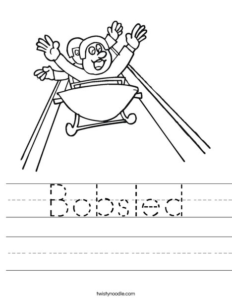 Bobsled Worksheet