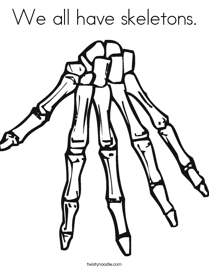 we all have skeletons coloring page