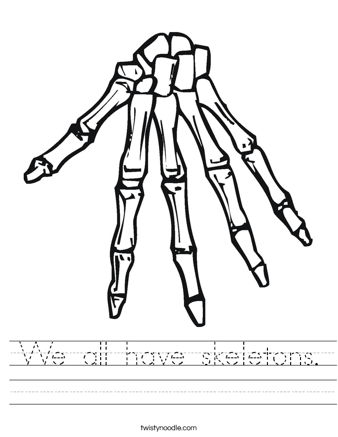 We all have skeletons. Worksheet