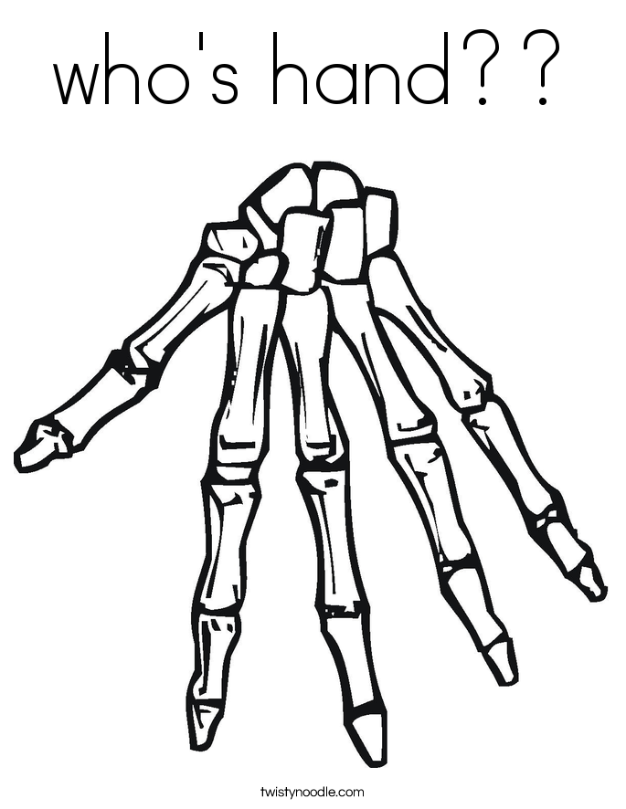 who's hand?? Coloring Page