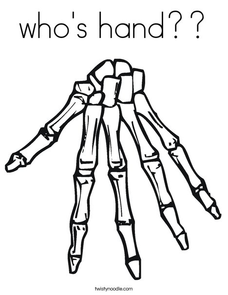 Whos Hand Coloring Page