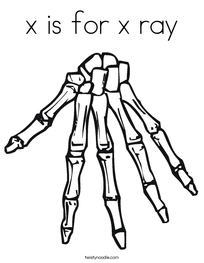 x is for x ray coloring pages - photo #6