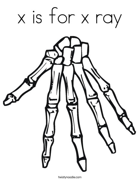 X Is For X Ray Coloring Page