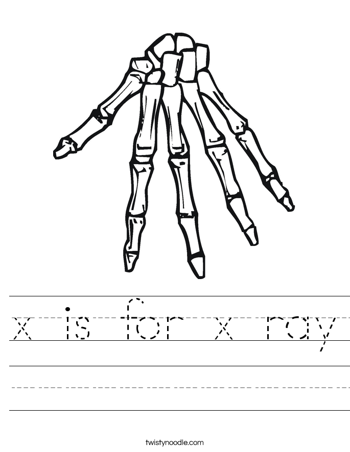 x is for x ray coloring pages - photo #40