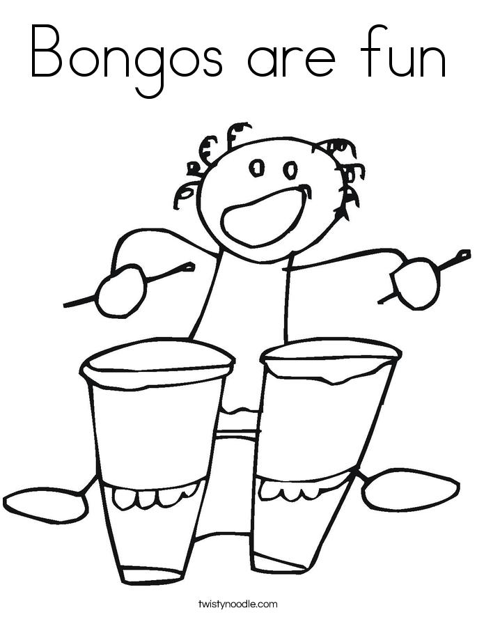 Bongos are fun Coloring Page