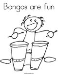 Bongos are funColoring Page
