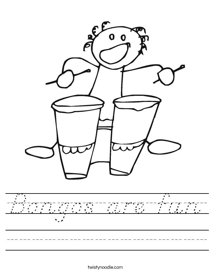Bongos are fun Worksheet