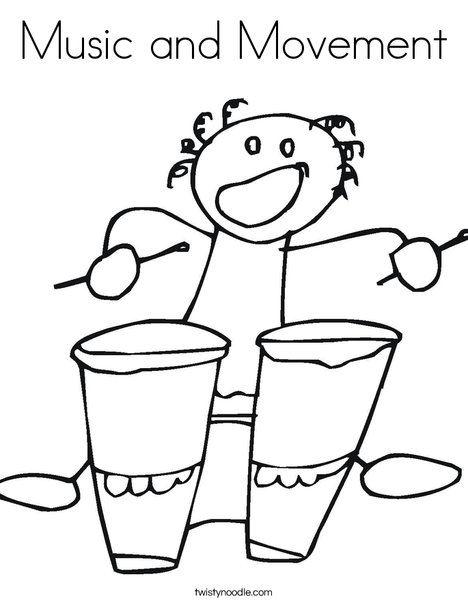 conga drums coloring page sketch template