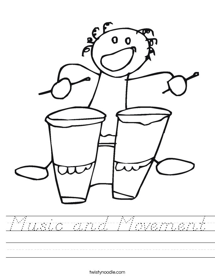 Music and Movement Worksheet